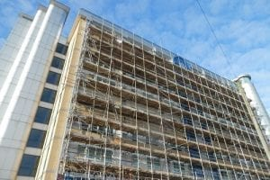 Scaffolding on multi storey building project